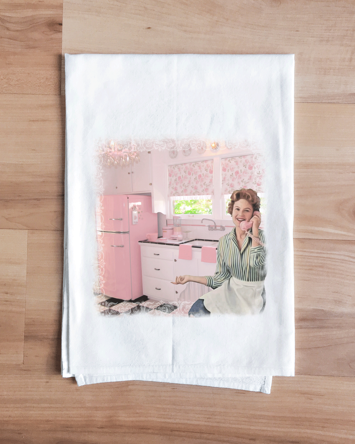 Rosebud Pink Classic Kitchen Towel