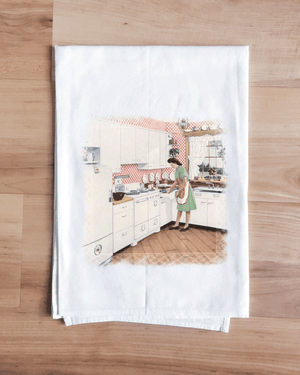 Cherry Red Classic Kitchen Towel