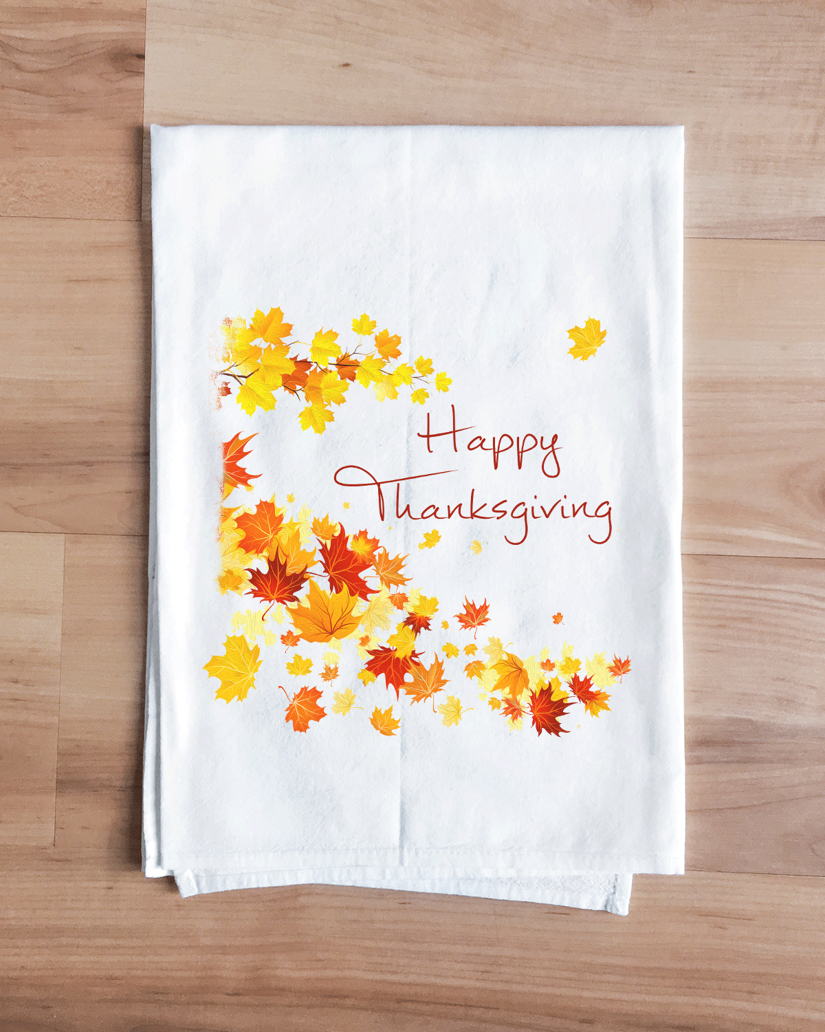 Thanksgiving Leaves Towel