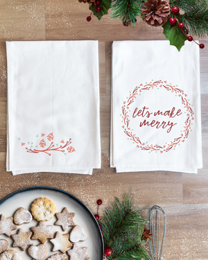 Let's Make Merry Christmas Towel Set