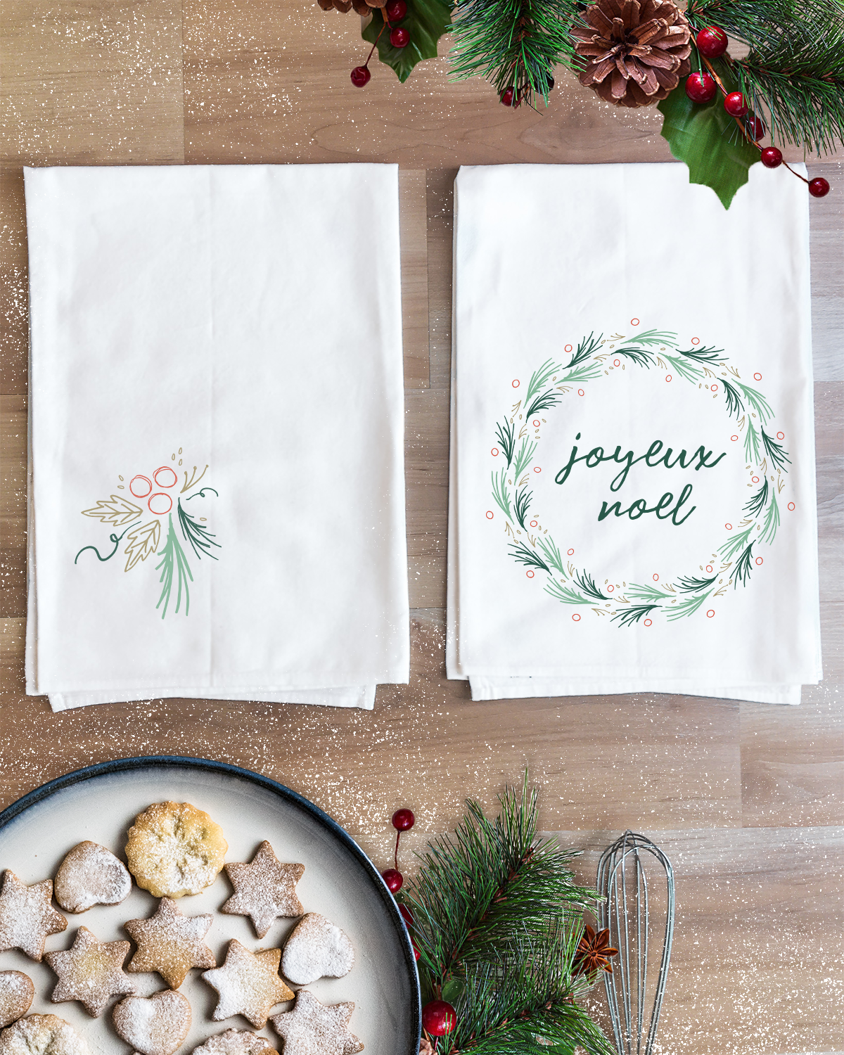 Joyeux Noel Christmas Towel Set