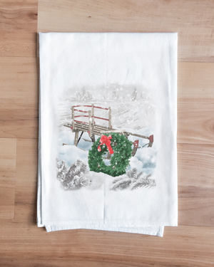 Christmas Sled Towel