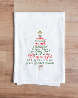 Angel's Message Christmas Tree Towel