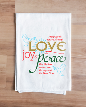 Love Joy Peace Towel