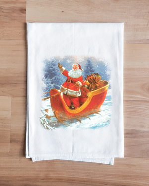 Dash Away Santa Towel
