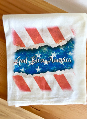 God Bless America Towel