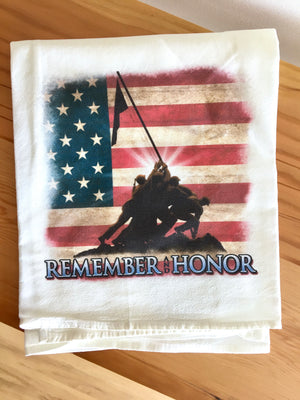 Honor Our Veterans Towel