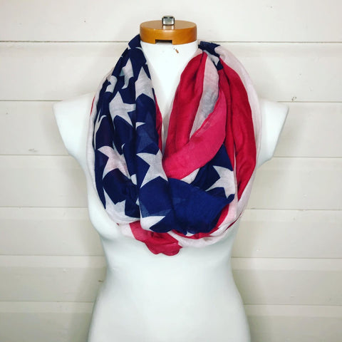 Scarf: Stars and Stripes Infinity - OhhMy! Gifts and Things, LLC