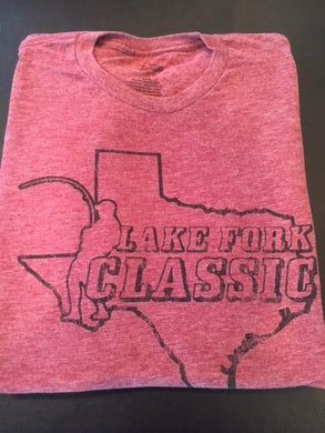 Short Sleeve Lake Fork Classic Tee (Burgundy Heather)