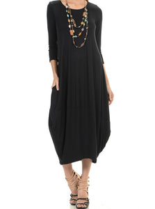 Women's Comfy, Casual, Cocoon Midi Dress