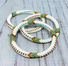 Gorgeous hand beaded roll on Bracelets