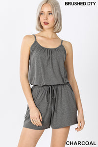 Women's Casual short comfy romper with elastic waist