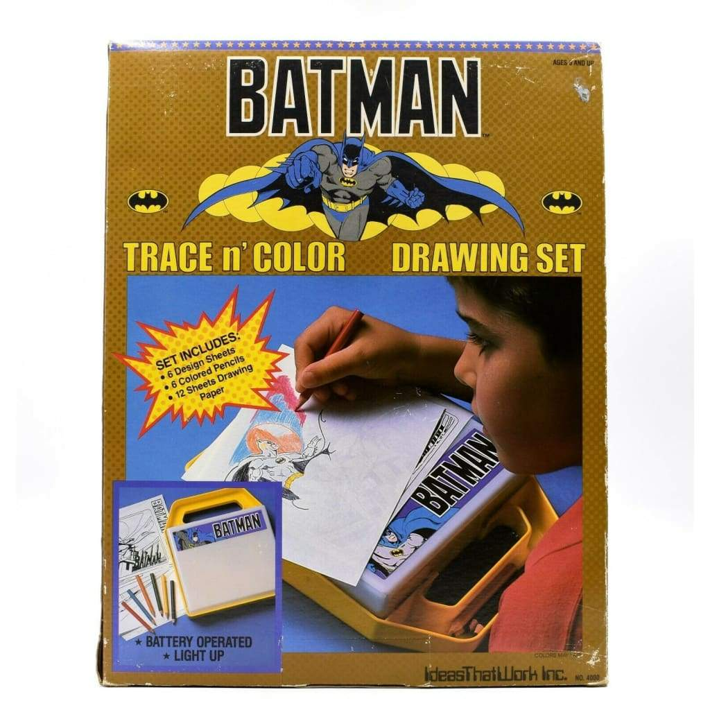Batman - Trace n Color Light-Up Drawing Set - Home Furniture & DIY:Stationery & School Equipment:Pens & Pencils