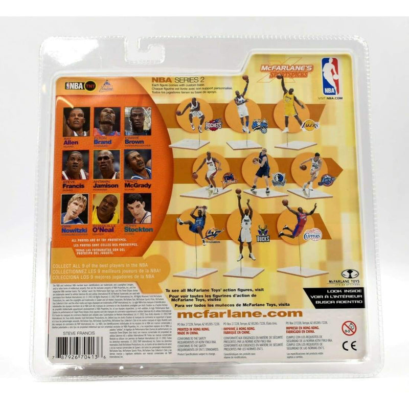 McFarlane Sports Picks NBA Series 2 - Steve Francis Action Figure - Toys & Games:Action Figures:TV Movies & Video Games