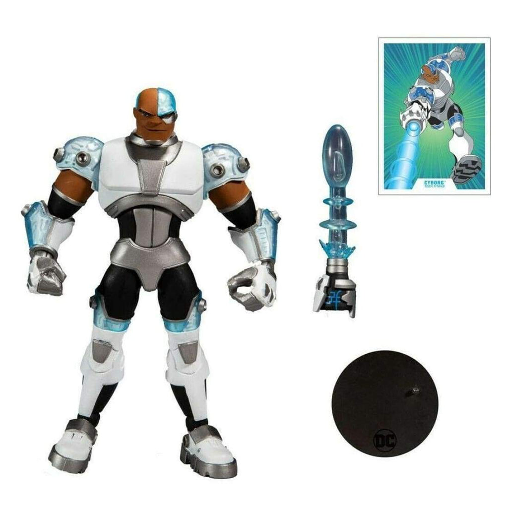 McFarlane Toys - DC Multiverse Animated - Teen Titans Cyborg Action Figure - Toys & Games:Action Figures:TV Movies & Video Games