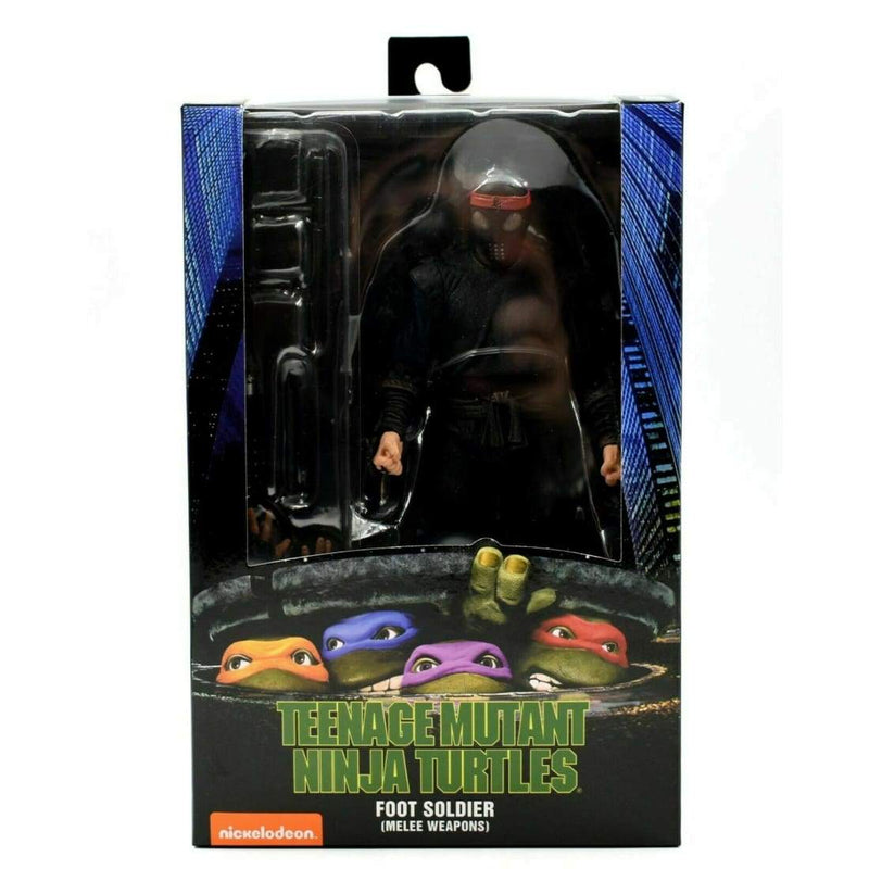 NECA - Teenage Mutant Ninja Turtles 1990 Movie - Foot Soldier (Melee Weaponry) - Toys & Games:Action Figures:TV Movies & Video Games