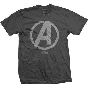 Official Marvel Comics - Avengers Infinity War A Icon Motif T-Shirt - S - Clothes Shoes & Accessories:Mens Clothing:Shirts & Tops:T-Shirts
