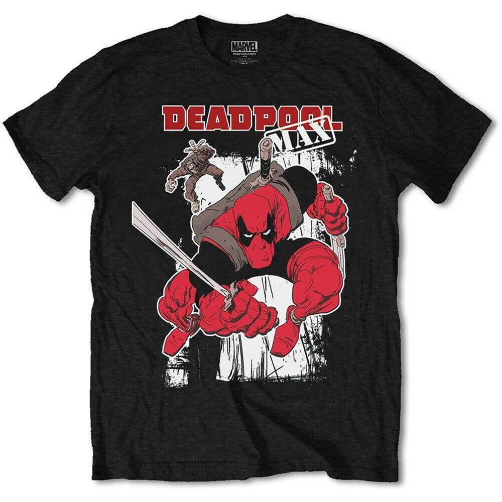 Official Marvel Comics - Deadpool Max Design Motif T-Shirt - XL - Clothes Shoes & Accessories:Mens Clothing:Shirts & Tops:T-Shirts