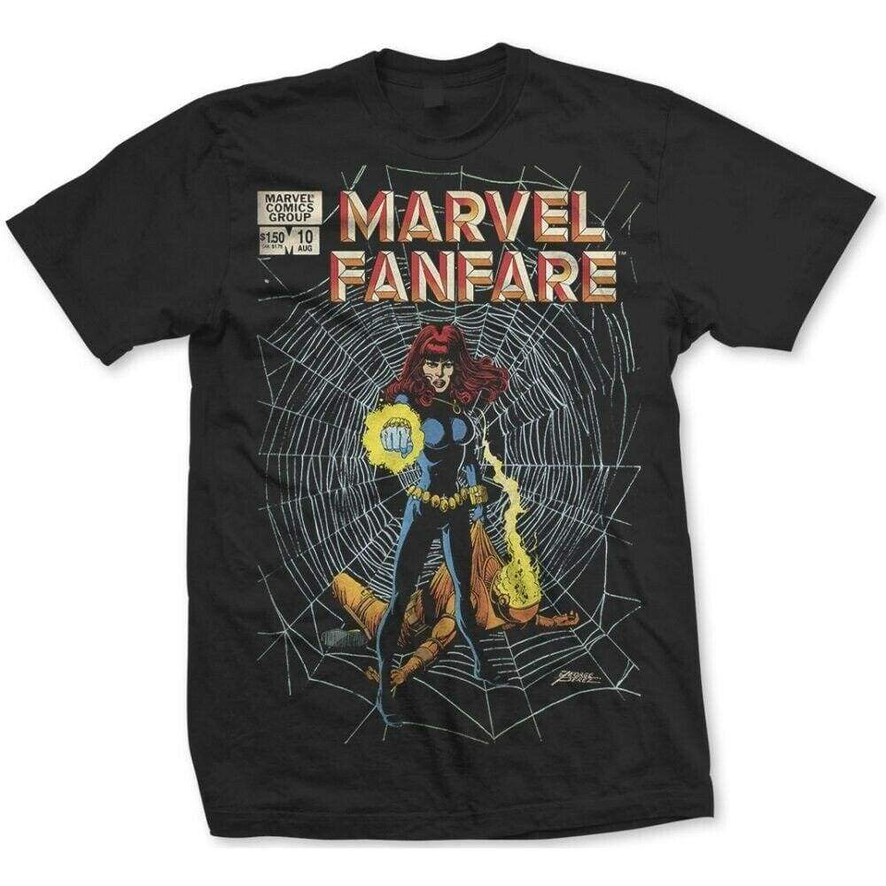 Official Marvel Comics - Marvel Fanfare Design Motif T-Shirt - XL - Clothes Shoes & Accessories:Mens Clothing:Shirts & Tops:T-Shirts