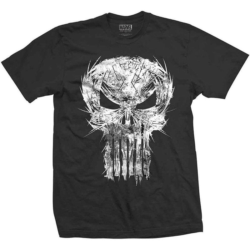 Official Marvel Comics - The Punisher Spiked Chest Skull Logo Mens T-Shirt - XL