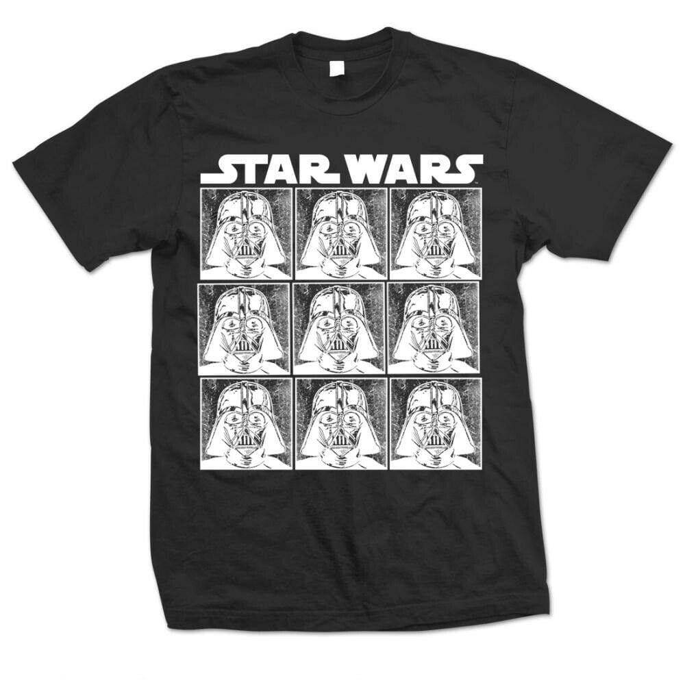 Official Star Wars - Darth Vader Repeat Design Motif T-Shirt - XL - Clothes Shoes & Accessories:Mens Clothing:Shirts & Tops:T-Shirts