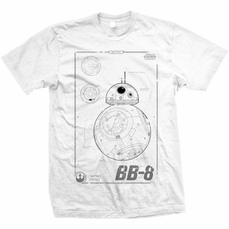 Official Star Wars - Episode VII BB-8 Tech Design Motif T-Shirt - Clothes Shoes & Accessories:Mens Clothing:Shirts & Tops:T-Shirts