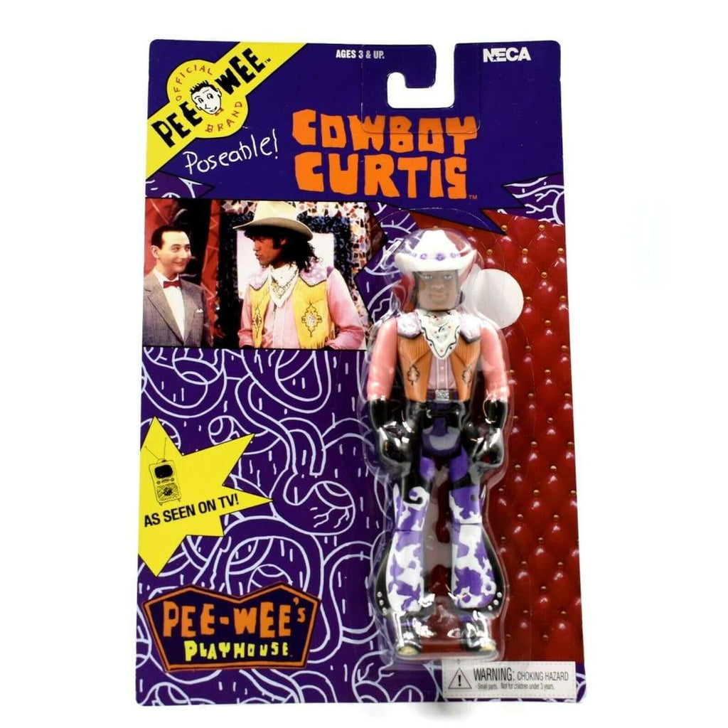 NECA - Pee-Wees Playhouse Series 1 - Cowboy Curtis Poseable Action Figure - Toys & Games:Action Figures:TV Movies & Video Games
