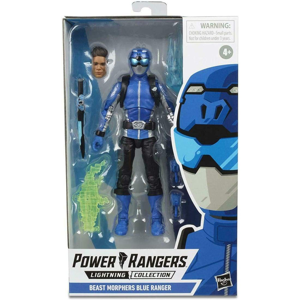 Power Rangers Lightning Collection - Beast Morphers Blue Ranger Action Figure - Toys & Games:Action Figures:TV Movies & Video Games