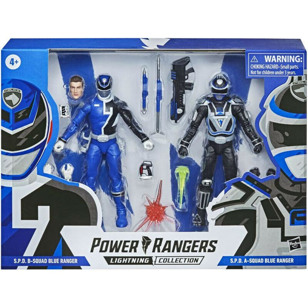 Power Rangers Lightning Collection - S.P.D A-Squad & B-Squad Blue Ranger 2-Pack