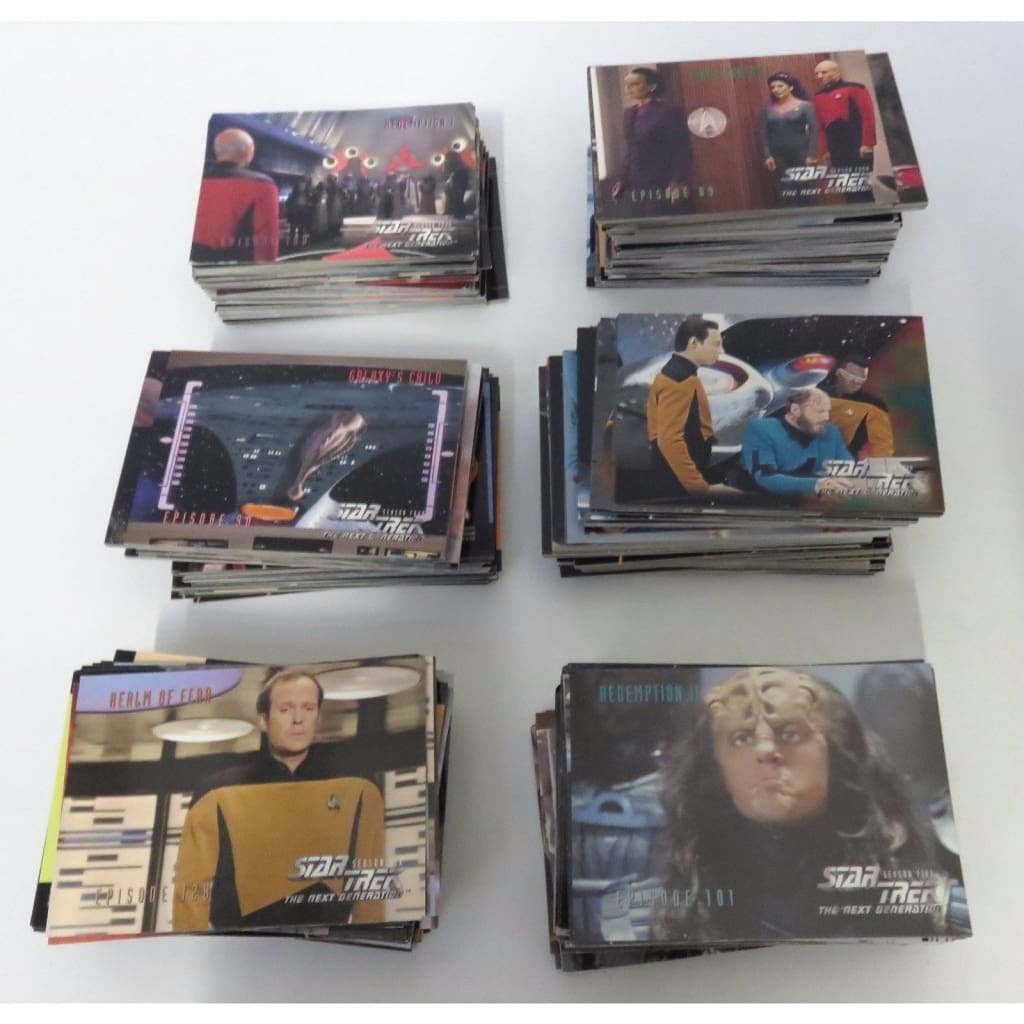 Star Trek Generations - Trading Card Collection Lot