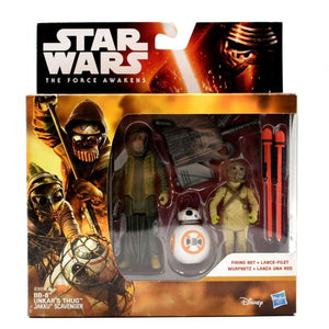 Star Wars The Force Awakens BB-8 Unkars Thug Jakku Scavenger Action Figure Set - Toys & Games:Action Figures:TV Movies & Video Games