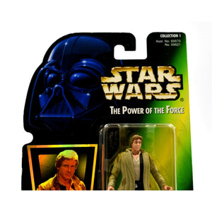 Star Wars The Power of The Force (Foil) - Han Solo in Endor Gear Action Figure