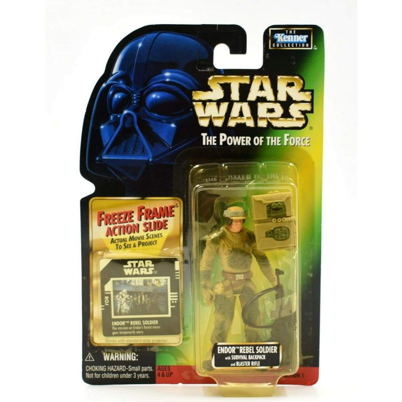 Star Wars Power of The Force Freeze Frame - Endor Rebel Soldier Action Figure - Toys & Games:Action Figures:TV Movies & Video Games