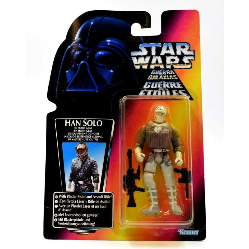 Star Wars The Power of The Force (Red Euro) Han Solo in Hoth Gear Action Figure - Toys & Games:Action Figures:TV Movies & Video Games