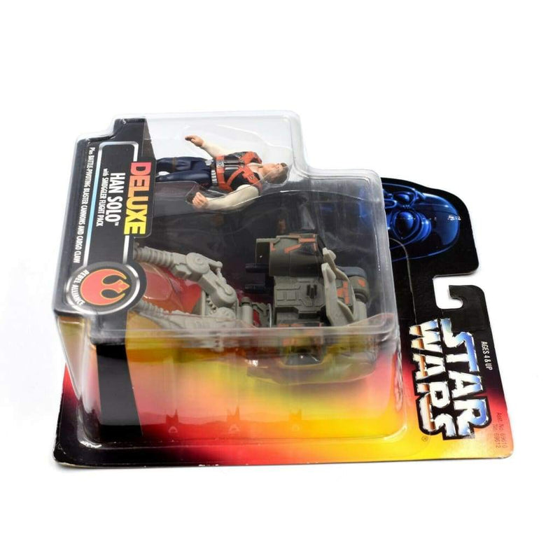 Star Wars Power of The Force (Red Euro) - Han Solo with Smuggler Flight Pack - Toys & Games:Action Figures:TV Movies & Video Games