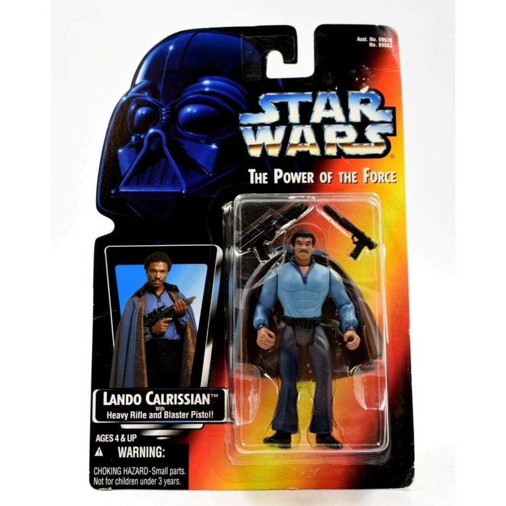 Star Wars The Power of The Force (Red) - Lando Calrissian Action Figure - Toys & Games:Action Figures:TV Movies & Video Games