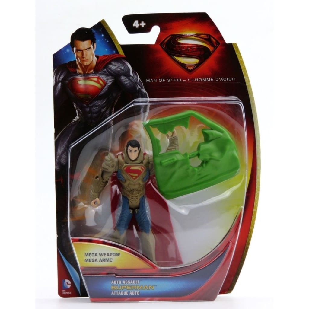 Superman Man Of Steel - Auto Assault Superman Action Figure