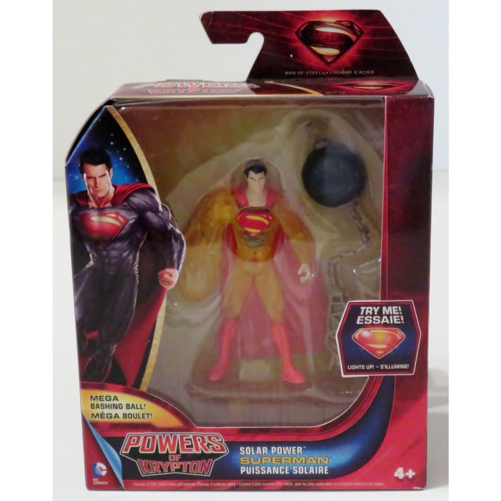 Superman Man Of Steel Powers Of Krypton - Solar Power Superman Action Figure
