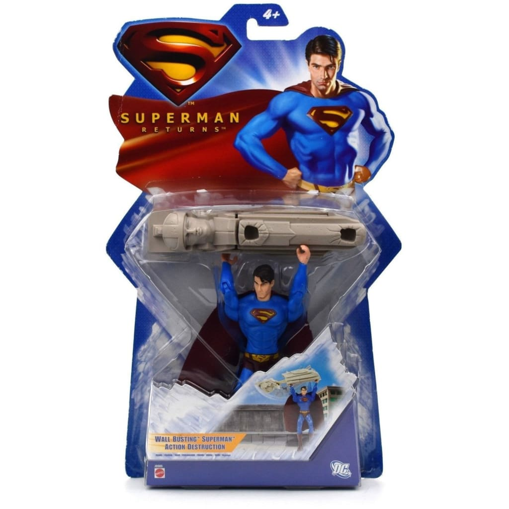 Superman Returns - Wall Busting Superman Action Figure