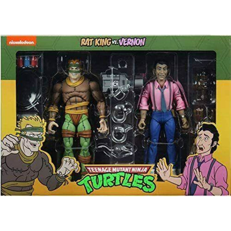 Teenage Mutant Ninja Turtles Cartoon Series - Rat King & Vernon Figure 2-Pack