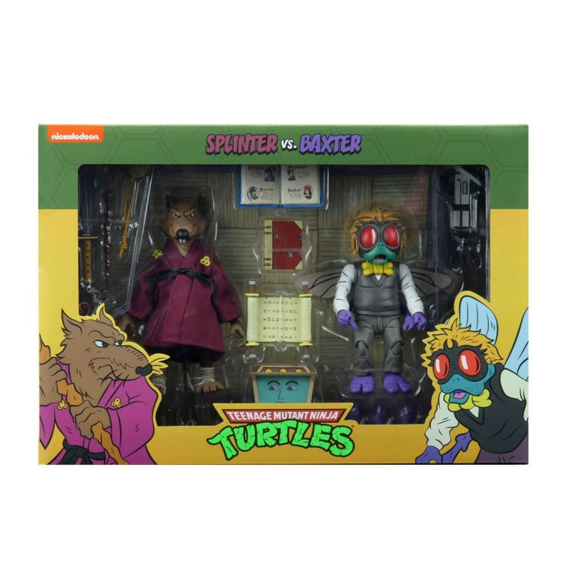 Teenage Mutant Ninja Turtles Cartoon Series - Splinter & Baxter Stockman 2-Pack