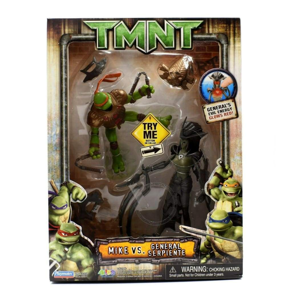 Teenage Mutant Ninja Turtles TMNT Movie - Mike vs. General Serpiente Figure Set - Toys & Games:Action Figures:TV Movies & Video Games