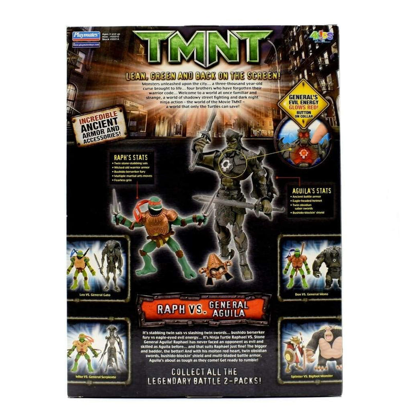 Teenage Mutant Ninja Turtles TMNT Movie - Raph vs. General Aguila Figure Set - Toys & Games:Action Figures:TV Movies & Video Games