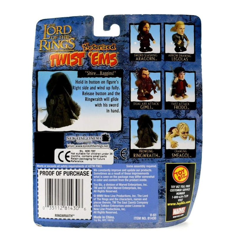The Lord of the Rings Motorized Twist Ems - Prowling Ringwraith Action Figure - Toys & Games:Action Figures:TV Movies & Video Games