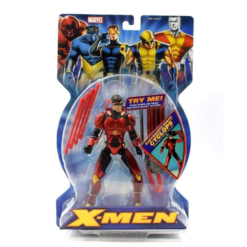 X-Men Classics Series 1 - Ruby-Quartz Armor Cyclops Action Figure - Toys & Games:Action Figures:TV Movies & Video Games