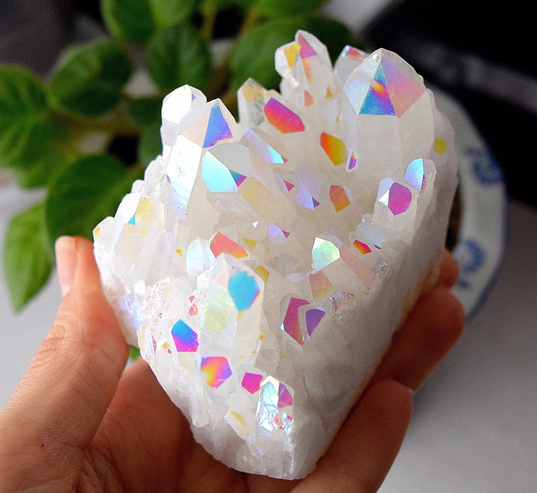 LARGE Angel Aura Quartz Cluster - AC12
