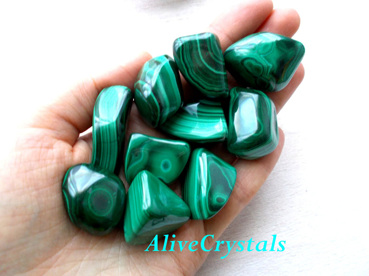 Malachite Green Stone of transformation, Healing Crystals for arthritis and pain relief