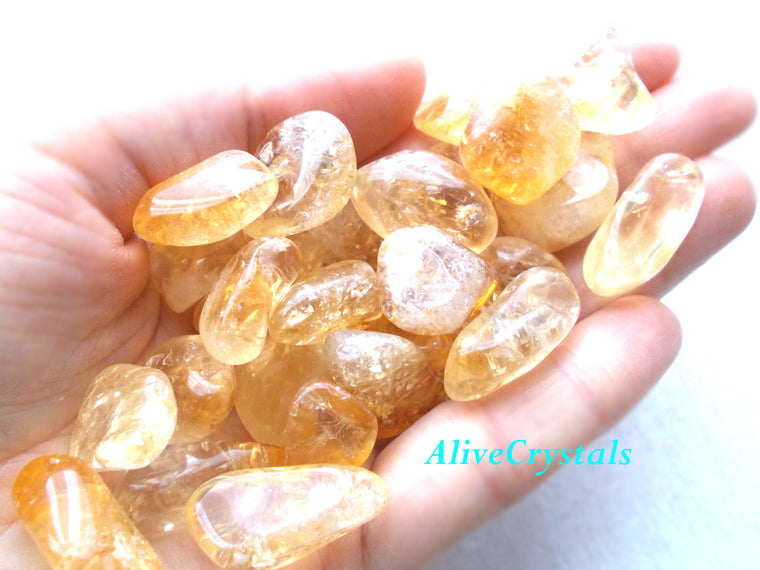 Citrine Crystals for Prosperity, Happiness, Good Luck