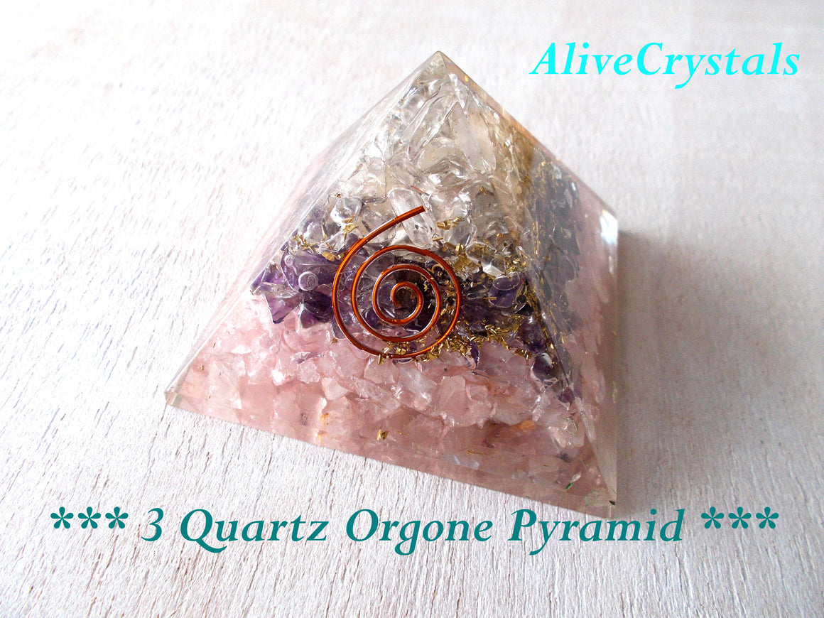 Quartz Crystal Pyramid Orgonite