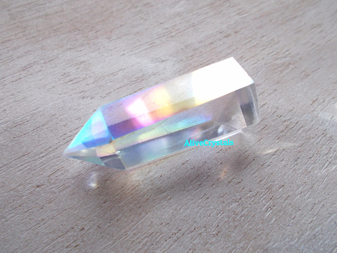 Opal Aura Quartz Crystal Points